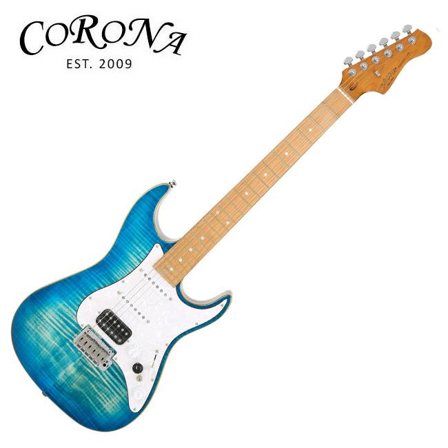 [앰플리튜브 증정] Corona CST-550 Trans Blue Burst  / 로스티드 메이플, FAT 부스트 & 톤 컨트롤러