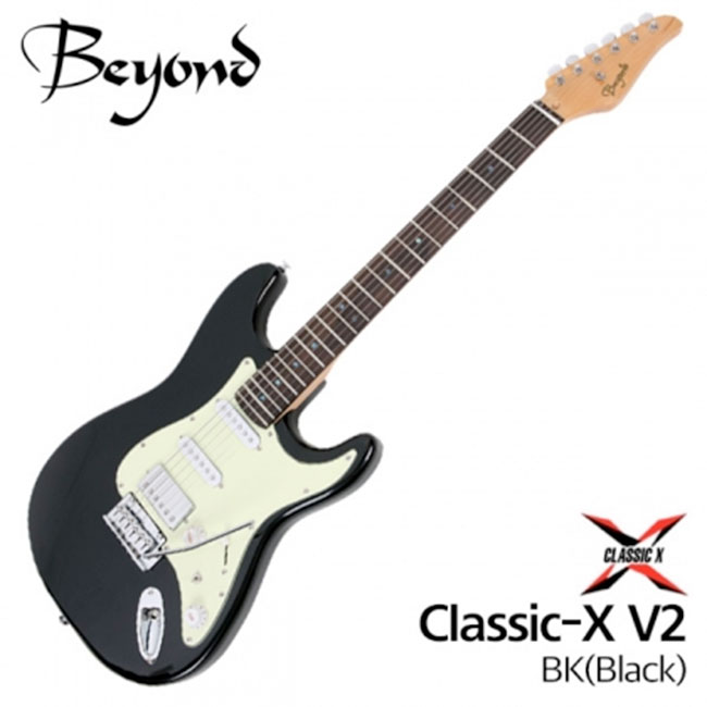 Beyond 일렉기타 Classic-X V2 BK (Black) - 로즈우드