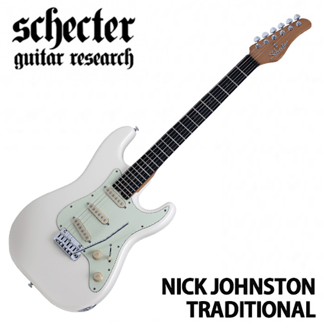 Schecter Nick Johnston Traditional / Atomic Snow (ASNOW)
