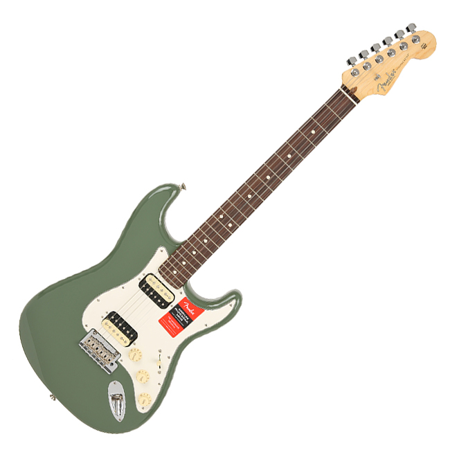 Fender - American Professional Stratocaster HH Shawbucker / Antique Olive - Rosewood (011-3050-776)