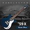 Danelectro 59X Electric Guitar - Dark Blue (Navy)