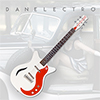 Danelectro 59M SPRUSE Electric Guitar - White Pearl/Red
