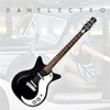 Danelectro 59M SPRUSE Electric Guitar - Black Pearl