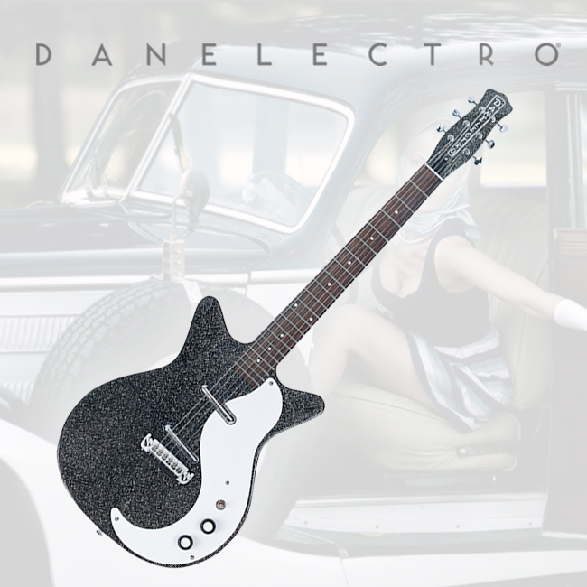 Danelectro 59MJ Electric Guitar - Black Metal Flake