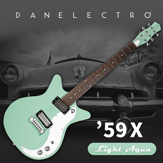 Danelectro 59X Electric Guitar - Light Aqua