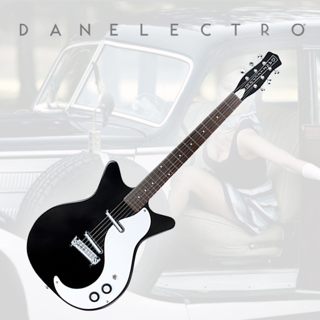 Danelectro 59M NOS Electric Guitar - Black