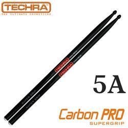 <font color=#262626>Techra Pairs CARBON PRO Super Grip Sticks - 5A 슈퍼그립 카본 스틱</font>