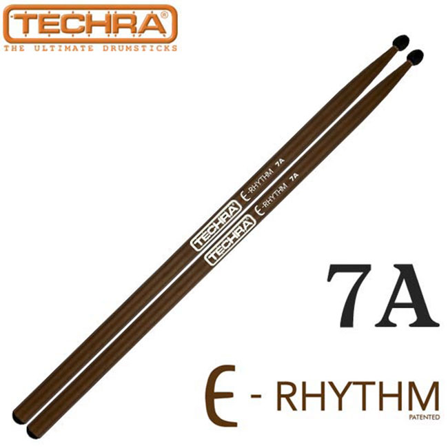 Techra Pairs E-RHYTHM Sticks - 7A (for Electronic Drums) 카본스틱, 전자드럼용