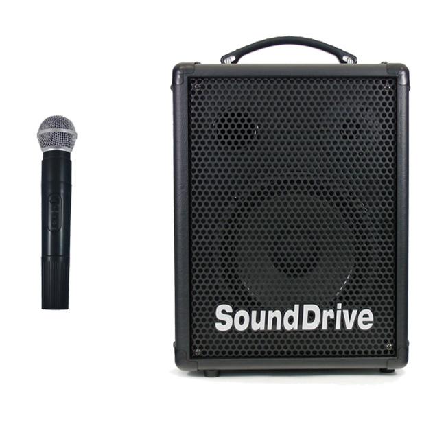 Sound Drive SPM-120MP 충전기능 내장 무선마이크포함 다용도 멀티앰프