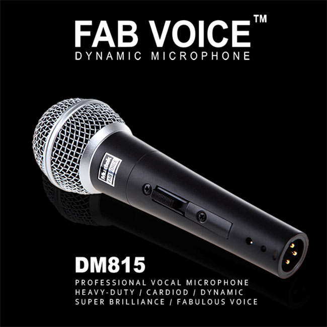 Muztek FAB VOICE Dynamic Microphone / with 5m cable (DM815)
