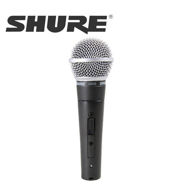 SHURE SM58SK / 슈어 마이크 SM58SK 전문공연(보컬)용 다이내믹 마이크, 스위치 부착