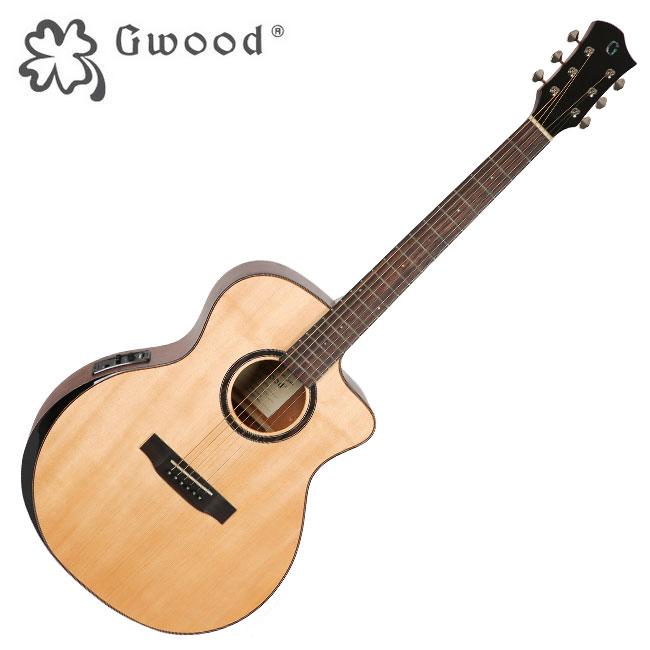 Gwood G210CE / 지우드 베벨컷 탑솔리드 통기타 / Fishman EQ