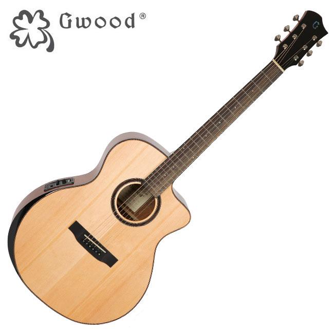 Gwood G310CE / 지우드 베벨컷 탑솔리드 월넛 통기타 / Fishman EQ