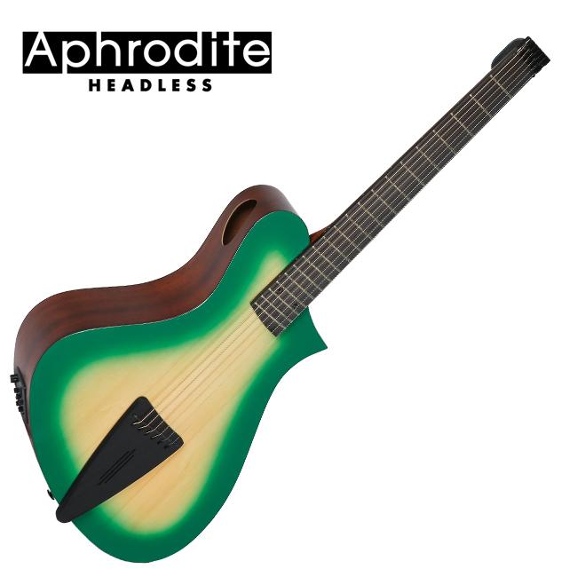 Corona Aphrodite APN-100HSEQ Green Burst 아프로디테 헤드리스 미니통기타