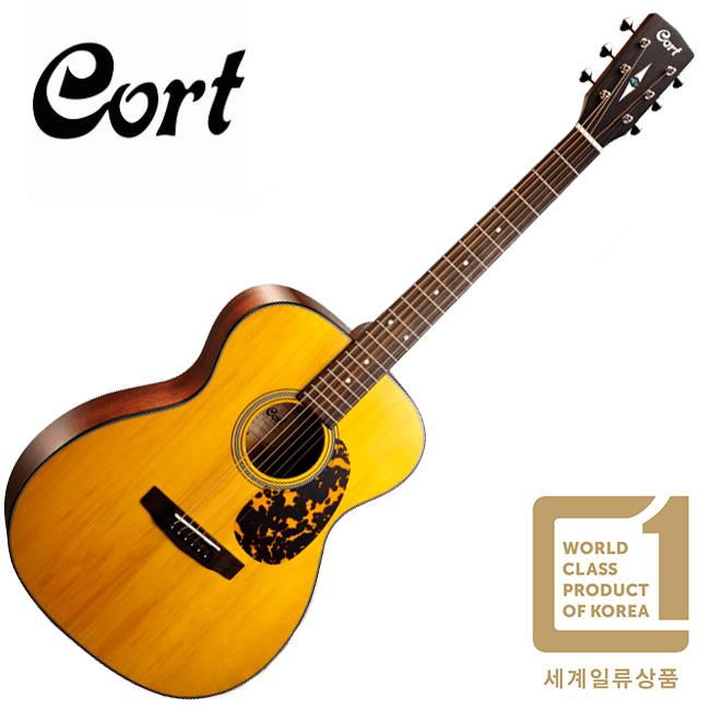 Cort L300V NAT / 콜트 OM 바디 통기타 / 탑백솔리드