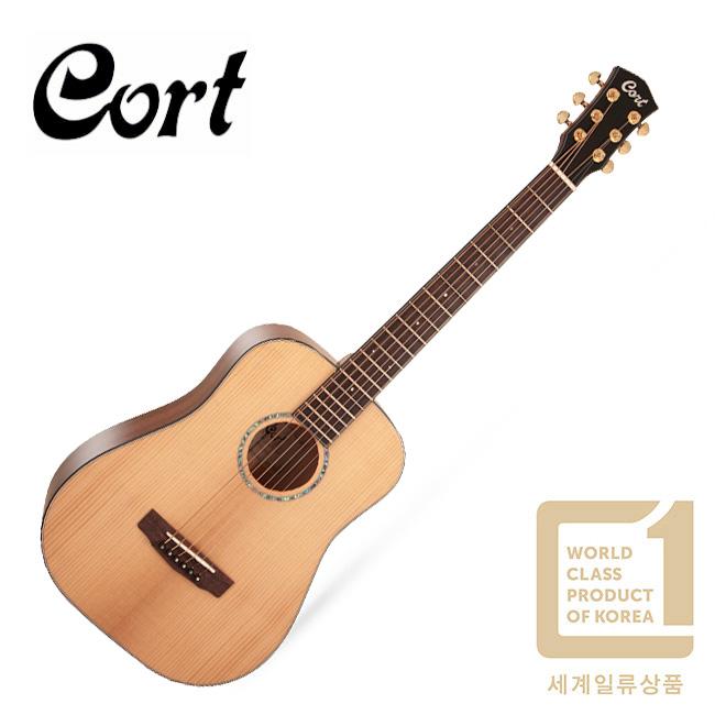 [1+1우쿨렐레증정] Cort Gold Mini / 올솔리드 미니 통기타