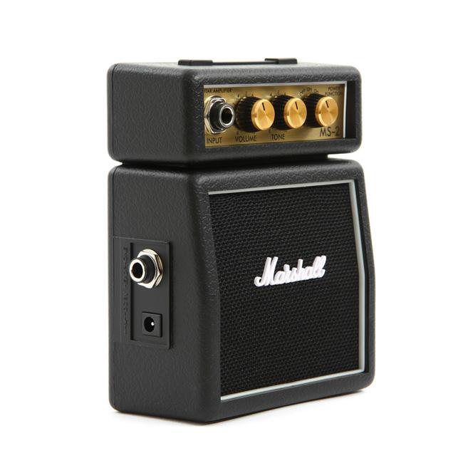 Marshall 휴대용 기타 미니앰프 MS-2 Black (어댑터/배터리 미포함)