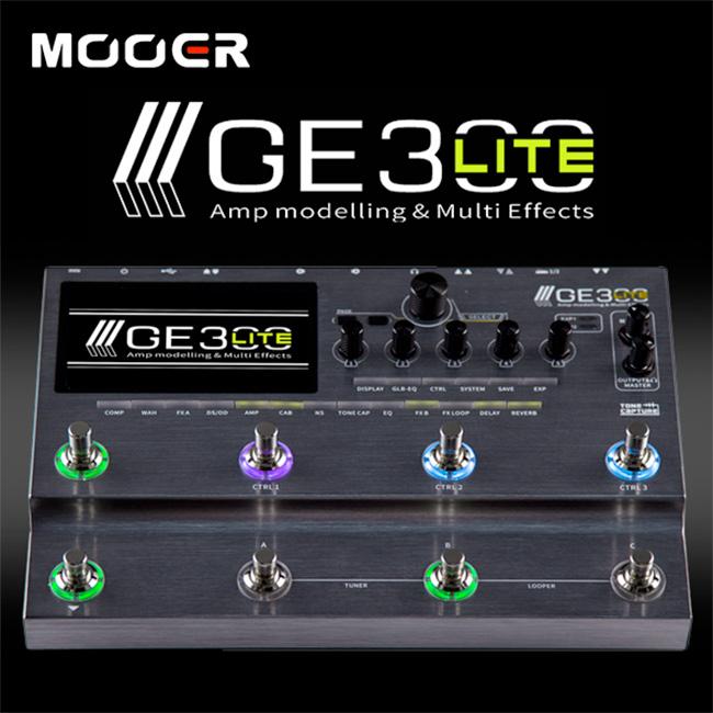 Mooer Audio GE300 Lite / 톤 캡쳐 사운드 프로파일링 멀티이펙터 (한글메뉴얼/어댑터포함)