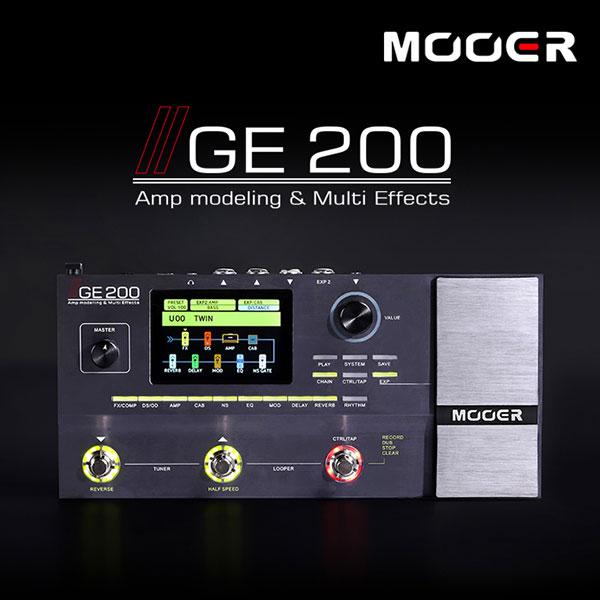 Mooer Audio GE200 - Amp Modelling & Multi Effects / 무어오디오 멀티 이펙터 (어댑터포함)