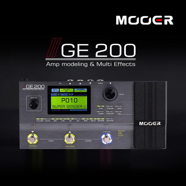 Mooer Audio GE200 - Amp Modelling & Multi Effects / 무어오디오 멀티 이펙터 (한글메뉴얼/어댑터포함)