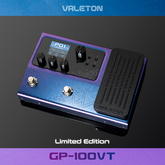 [Limited Edition / 한글지원]<br>Valeton GP-100VT 베일톤 멀티이펙트 프로세서 / Jewel Violet 컬러 (어댑터 포함)