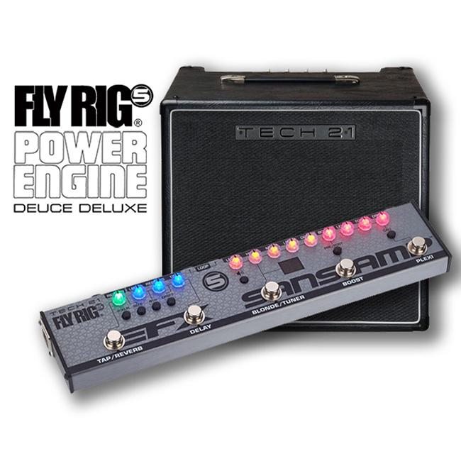 [스쿨뮤직 패키지] Tech21 - Fly Rig 5 (V2) + Power Engine Deuce Deluxe