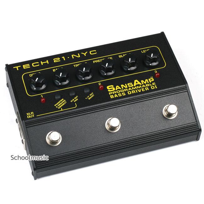 Tech21 Bass Driver Programmble DI 3채널 베이스 프리앰프