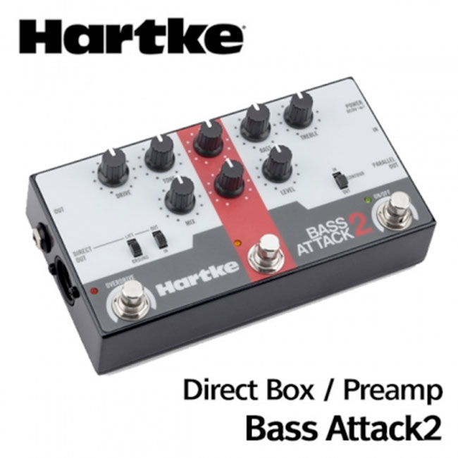 Hartke Bass Attack 2 (Bass Preamp/Direct Box with Overdrive)