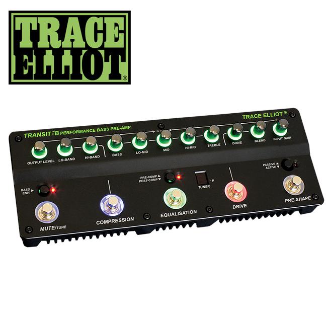 Trace Elliot - Transit B 베이스 프리앰프 & 이펙터 (케이스 & 어댑터 포함)