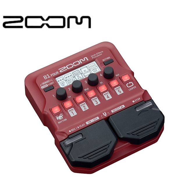 ZOOM B1 FOUR / 베이스 멀티이펙터