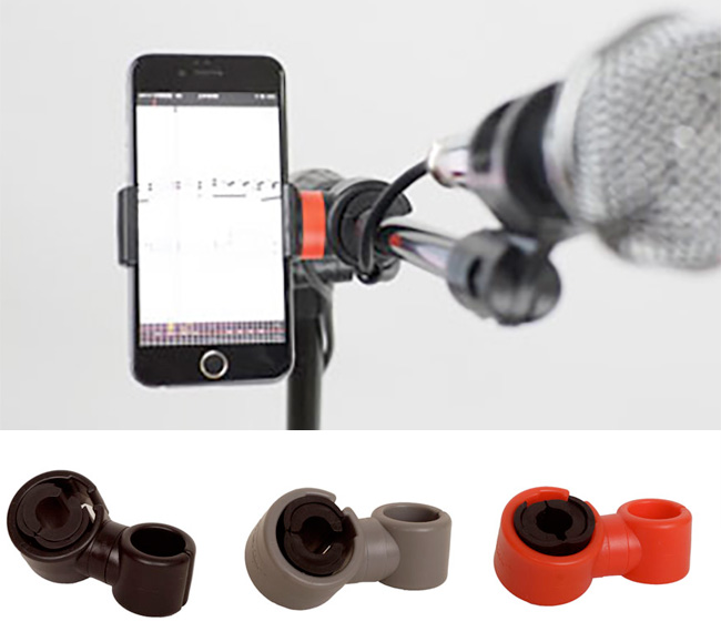 Prefox SP-01 스마트폰 거치대  / 악기, 스탠드 등 다양하게 사용가능 (레드)
