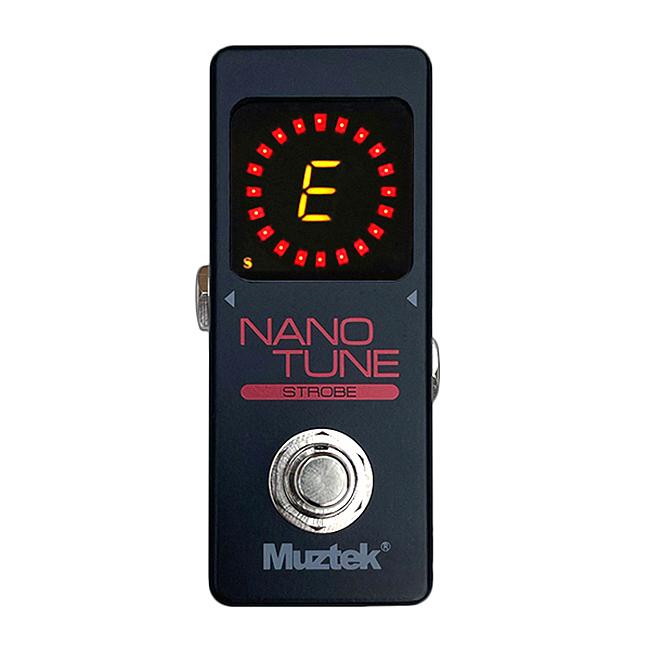 Muztek Nano Tune Strobe Pedal Tuner (MNT-STROBE) - 초정밀 스트로브 페달 튜너