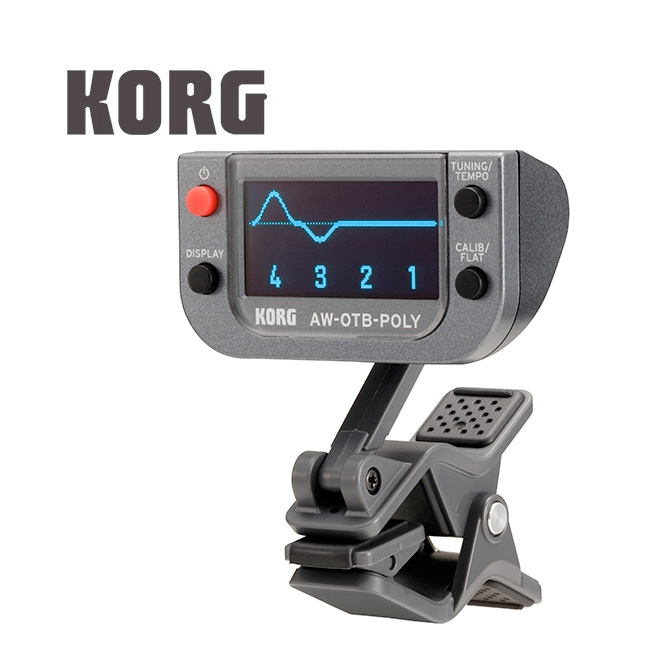 KORG AW-OTB-POLY 베이스용 폴리포닉 클립 온 튜너