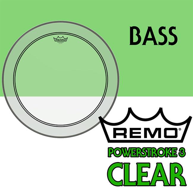 REMO - PowerStroke 3 Clear 22인치 Top / 드럼 베이스 헤드 (P3-1322-C2)
