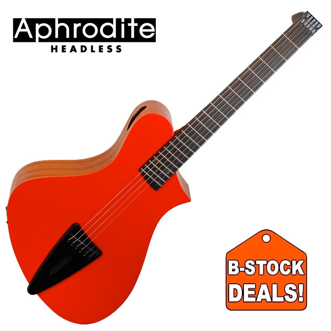 [B-Stock] Corona Aphrodite APN-100HSEQ / 아프로디테 헤드리스 미니 통기타 (RED)
