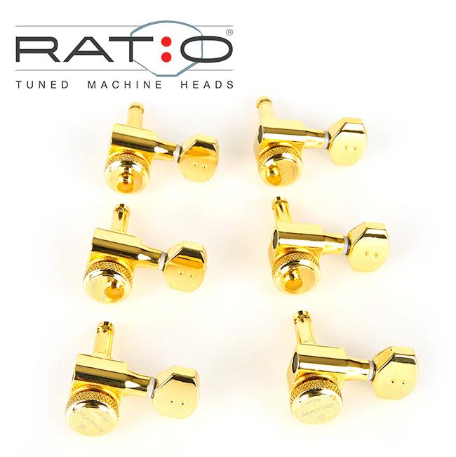 [특가]Graphtech - Electric Ratio Locking 그라프텍 락킹 헤드머신 6-Line Contemporary Mini Gold(PRL-8721-G0) 7095
