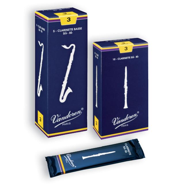 Vandoren 트레디셔널 클라리넷 리드 2 ½ 10개팩 (CR1025)