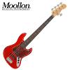 Moollon J-Classic Candy Apple Red 5현 재즈베이스(1386) 하드케이스 포함