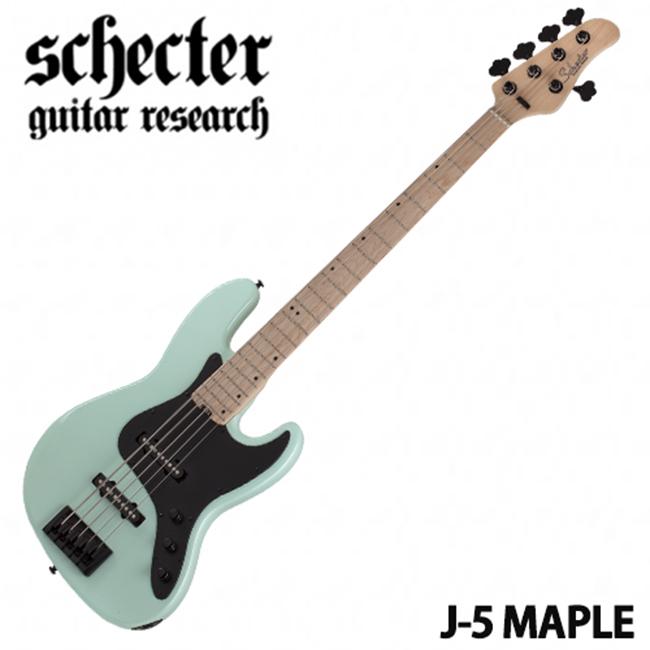 Schecter Retro J-5 Maple / Sea Foam Green (SFG)