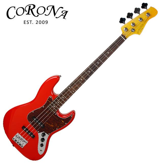 Corona CJB Deluxe Fiesta Red / 코로나 디럭스 재즈베이스