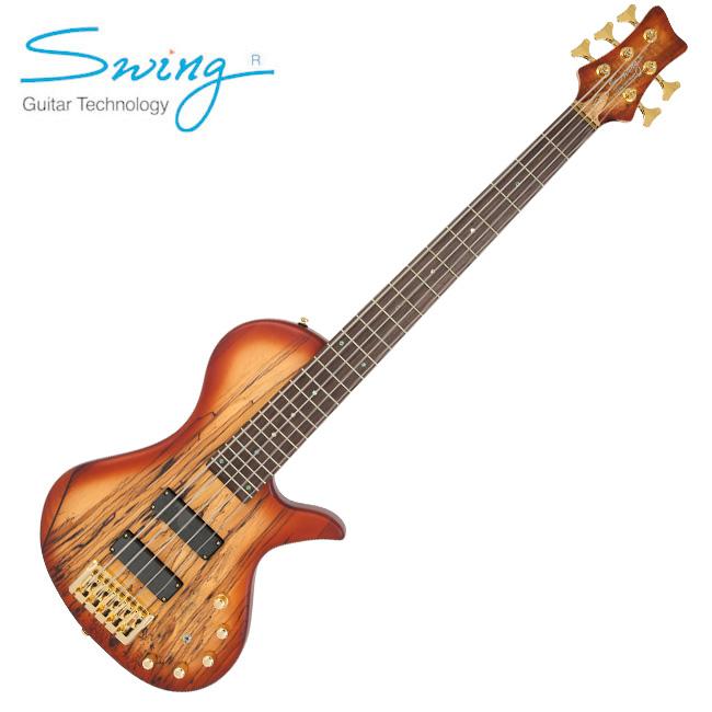 Swing - Kingdom 5 Spalted / 스윙 킹덤 5현 베이스 (Tobacco)