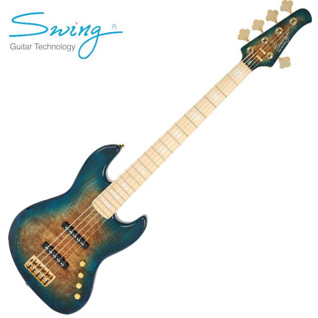 Swing Jazz 5V / 스윙 5현 재즈베이스 (Blue Burst)