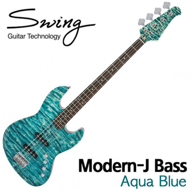 Swing Modern-J Bass AQUA BLUE
