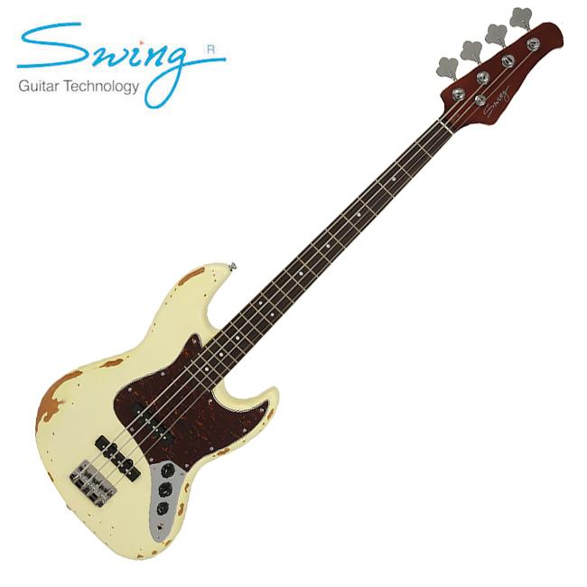 Swing - JJ-4R / 스윙 라커피니쉬 재즈베이스 (Vintage White)