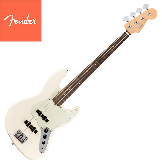 Fender American Professional Jazz Bass - Olympic White Rosewood (019-3900-705)