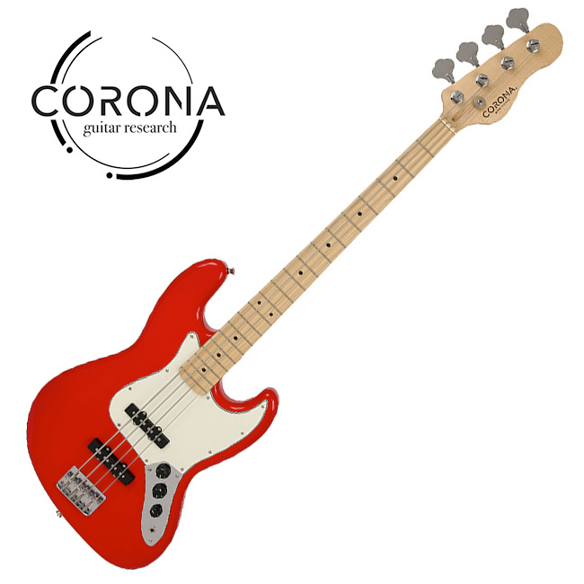 [10th New Generation]<br>Corona - Traditional Player Jazz / 코로나 베이스기타 Dakota Red(M)