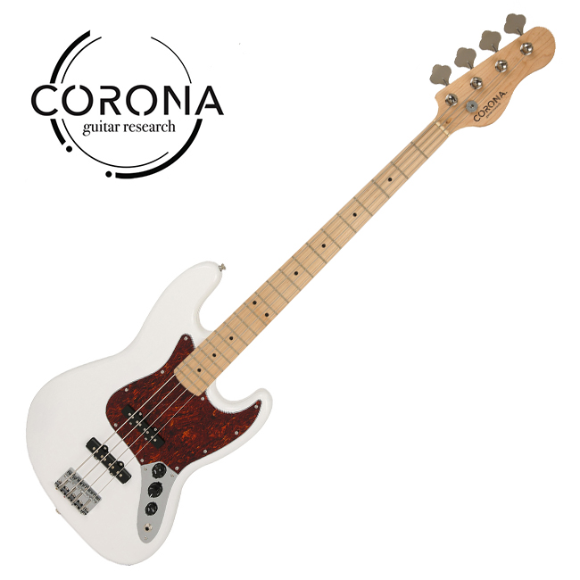 [10th New Generation]<br>Corona - Traditional Standard Jazz / 코로나 베이스기타 Olympic White (Maple)