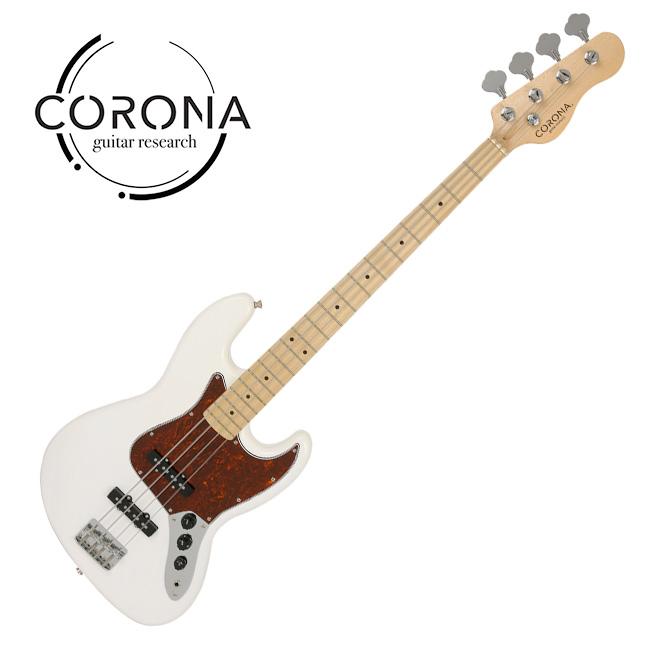 [10th New Generation]<br>Corona - Traditional Player Jazz / 코로나 베이스기타 White(M)