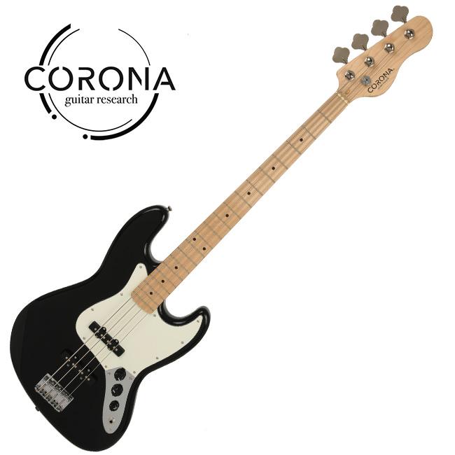 [10th New Generation]<br>Corona - Traditional Standard Jazz / 코로나 베이스기타 Black (Maple)
