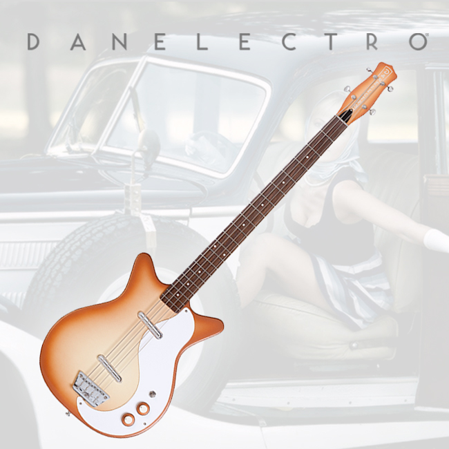 Danelectro 59 DC LONG SCALE Electric BASS - Copper Burst